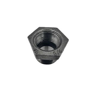 Hexagon Bush MI 1 1/4 inch x 1/2 inch Black