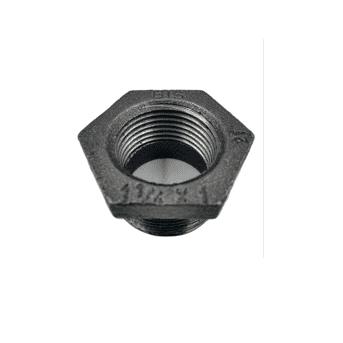 Hexagon Bush MI 1 1/4 inch x 1 inch Black