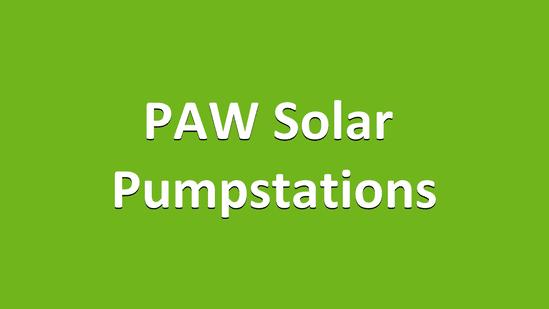 PAW Solar Pumpstations