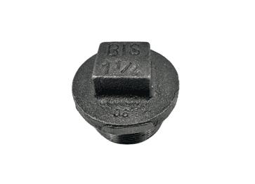 Plain Hollow Plug 1 1/2 inch Black