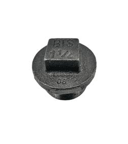 Plain Hollow Plug 1 1/4 inch Black