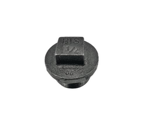 Plain Hollow Plug 1/2 inch Black