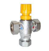 Thermostatic mixing valve 22 mm