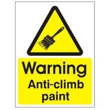 Anti Climb Warning Sign