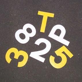 Ennis-Flint Prismo Flexiline Letters & Numbers Thermoplastic Symbol   paints4trade.com