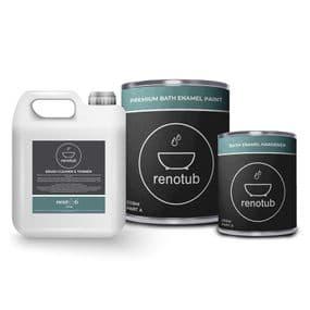 Renotub™  Premium Bath Resurfacing Enamel Paint & Thinner Kit  | paints4trade.com